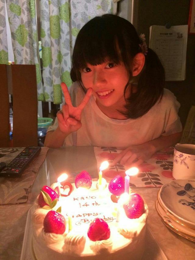 バースデーケーキと野島樺乃