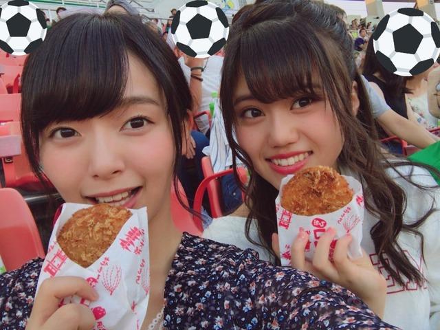 SKE48町音葉と髙畑結希、FC岐阜vsカマタマーレ讃岐を観戦中に中継に映り込むwww
