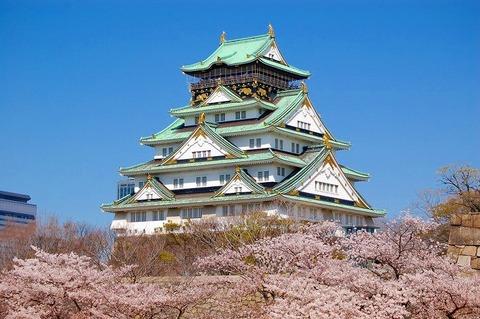 大阪城・春