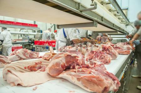 46410473-食肉加工食品業界でのクローズ-アップ