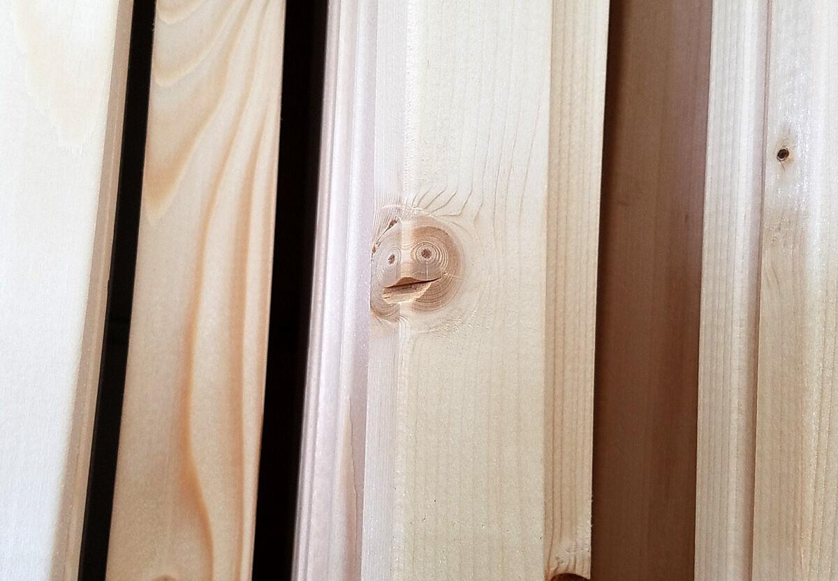 【仰天】めっちゃいい顔してる…ホームセンターに売ってた「笑う木材」が話題にwwwwwwww(画像あり)