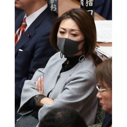 【驚愕】あの女性議員がマスクをつけた結果wwwwwwww(画像あり)