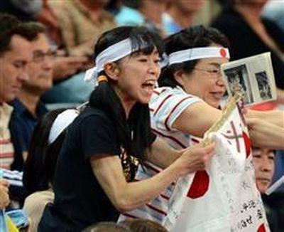内村周子応援時の画像