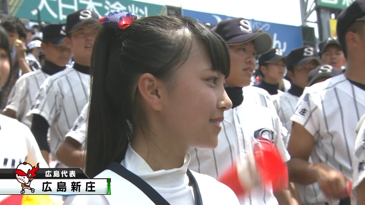 no title  【甲子園2015】広島新庄高校、スタンドで補欠とチアガールが肩を組む ...