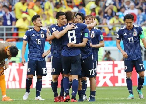 【サッカー】日本とコロンビアのFIFAランキングの差がやばいwwwwww