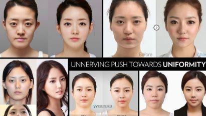 韓国人-美容整形-同じ顔-子供-違う顔