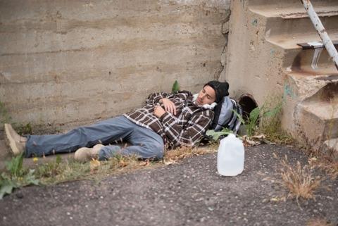 【台風19号】ホームレスさん、とんでもない姿で見つかる・・・