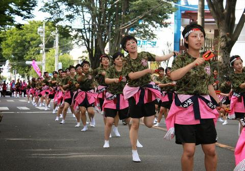 朝霞市民祭り(女性自衛官教育隊)