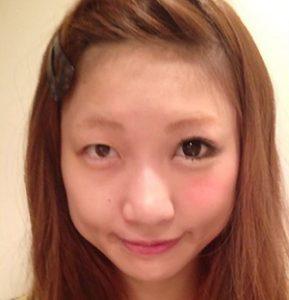 あいのり桃 半顔メイク-289x300