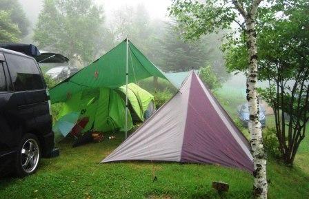 雨キャンプ長野