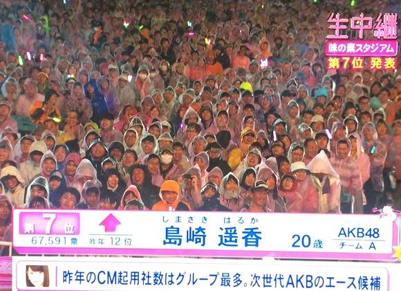 島崎遥香がスピーチした後の観客の顔www