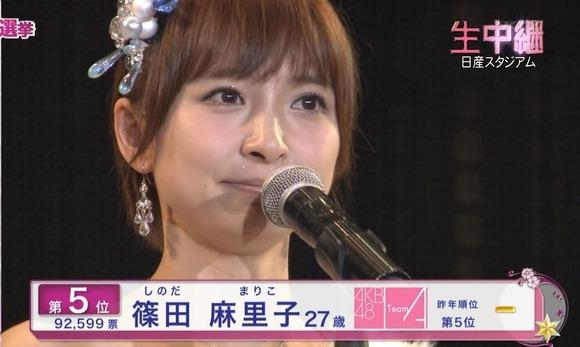 篠田麻里子さん「総選挙立候補しました( *`ω´)」