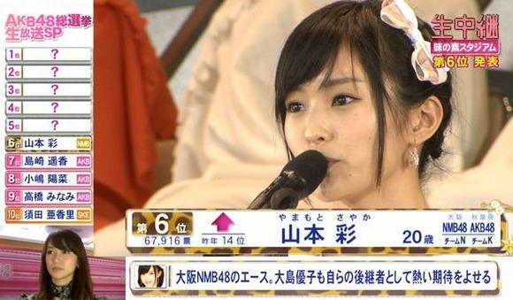 【総選挙】NMB48山本彩「福岡開催はっきり言ってアウェイ中のアウェイ」