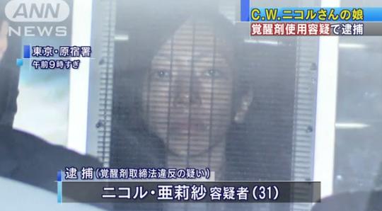 C・W・ニコル娘のニコル亜莉紗、覚醒剤で逮捕