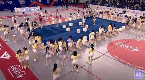 SNH48第三回アイドル運動会椅子取りゲーム