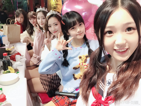 SHY48劉娜weibo171112