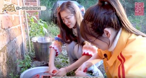 DDD大挑戦0331野菜洗い