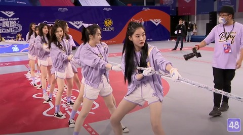 SNH48第三回アイドル運動会綱引き