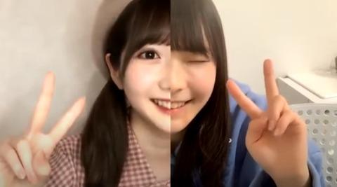 谷崎沙耶と永田詩央里コラボ配信2