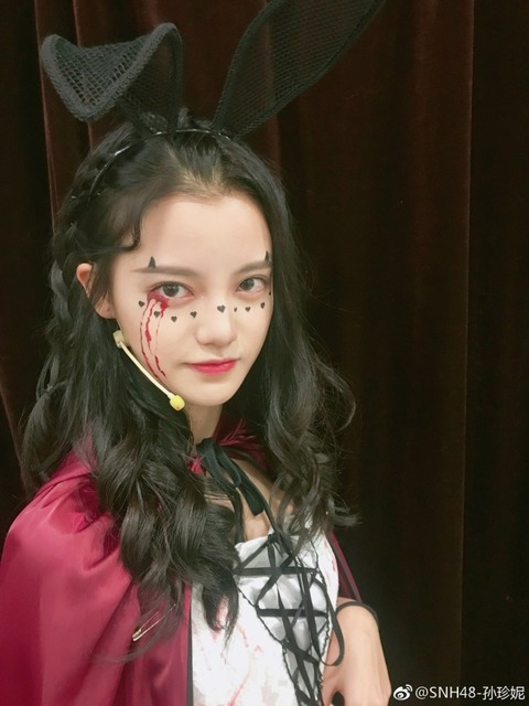 SNH48孫珍妮weibo171031
