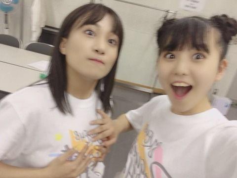 SKE48上村亜柚香、斉藤真木子のπを触ってこの表情w