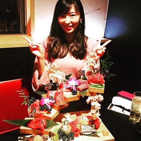 大矢真那が食べてるお肉がすごい!!!