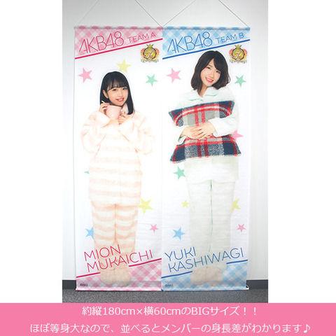 【実用的】AKB48メンバーのほぼ等身大全身タペストリーが発売
