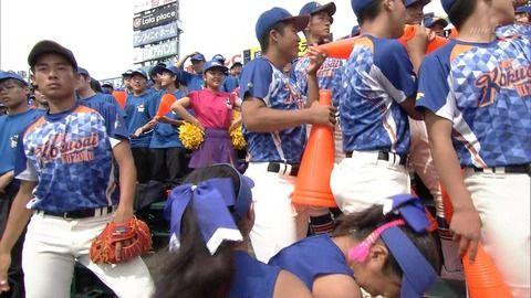 【高校野球】神戸国際大付属高校のチアガールが可愛いと話題!可愛い仕草もwwww【夏の甲子園】