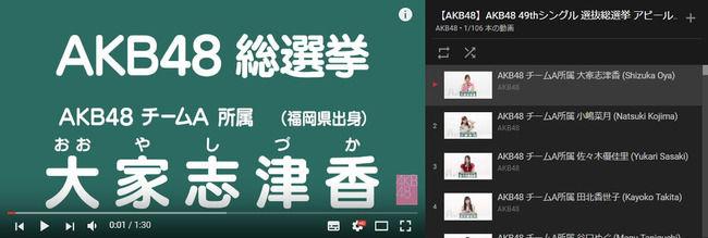 AKB48の最新の人気ランキングキタ━━━━━━(゚∀゚)━━━━━━!!!(総選挙アピールコメント)【AKB48 49thシングル選抜総選挙/2017年第9回AKB48選抜総選挙】