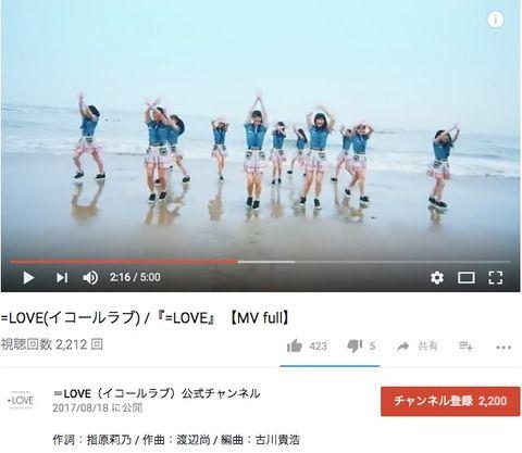 【動画】=LOVEのデビュー曲「=LOVE」のフルMVが公開