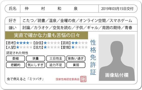 【SKE48】仲村和泉の性格免許証、当たりすぎじゃないか?