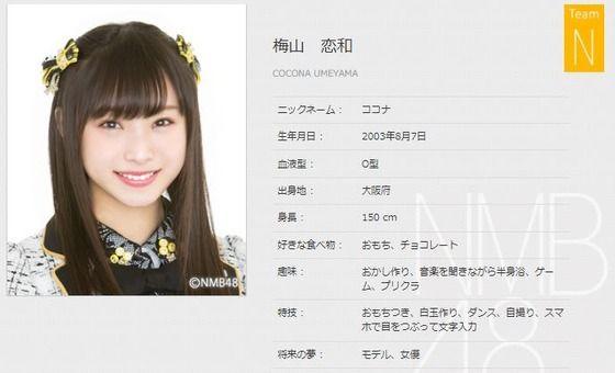 『梅山恋和/チームN』24時間に一人NMB48のメンバーについて語るスレ2018(13人目)