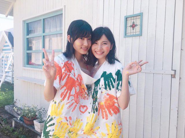 AKB48谷口めぐ☓福岡聖菜「BOMB 2017年9月号」オフショット