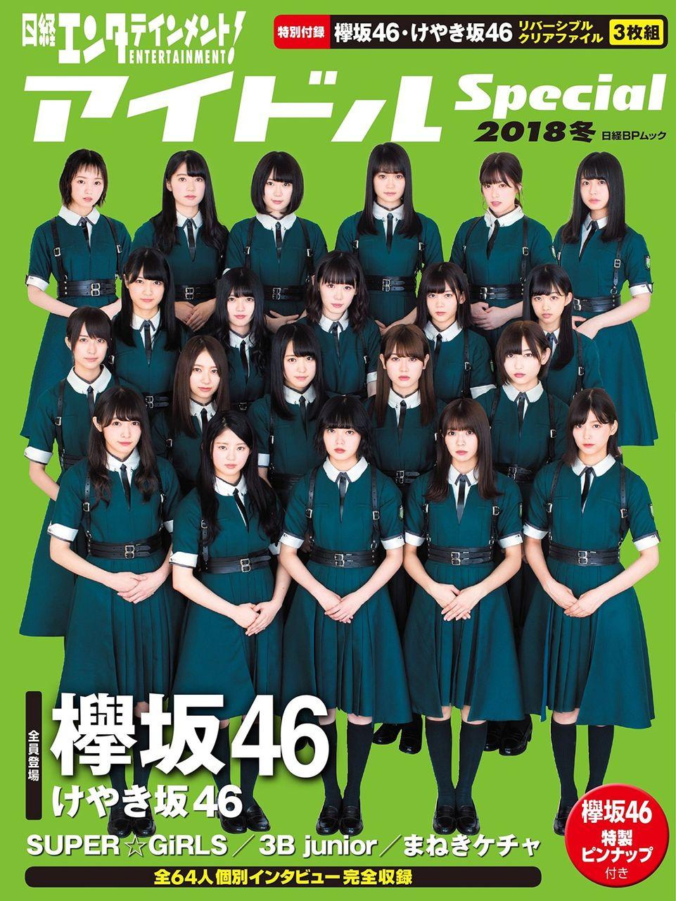 「日経エンタテインメント! アイドルSpecial 2018冬」表紙:欅坂46【11/29発売】