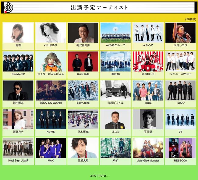 【AKB48G】TBS「音楽の日」出演アーティスト第1弾発表!今回はAKB48グループで出演!!