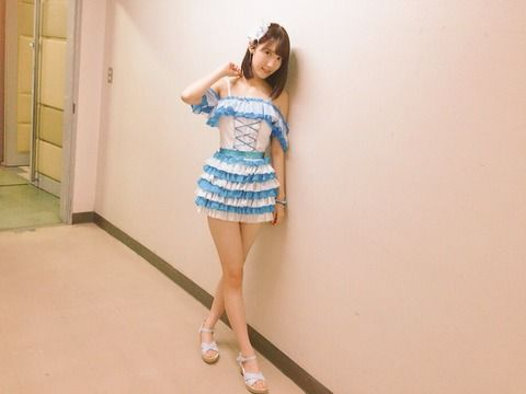 HKT48田中菜津美「お尻見えちゃうくらい短いスカートでアピール」