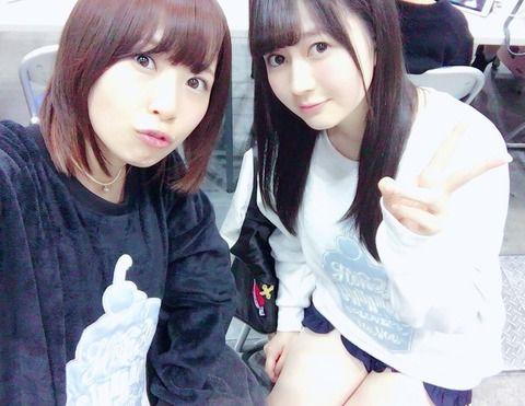 SKE48高柳明音が江籠裕奈と双子コーデ!!!