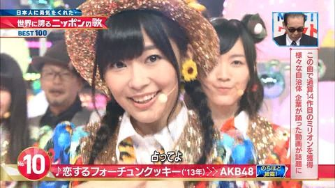 【Mステ】「世界に誇るニッポンの歌」10位に恋チュン!