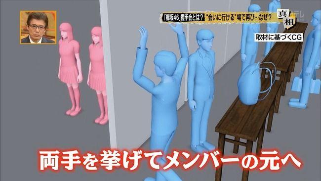 【速報】欅坂46の握手会、客がホールドアップ状態でやらされる?wwwww