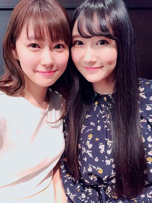 元NMB48矢倉楓子さん、みるきーと再会。【渡辺美優紀】