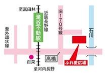 あけぼの朝市地図
