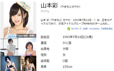 山本彩 - Yahoo!検索 より