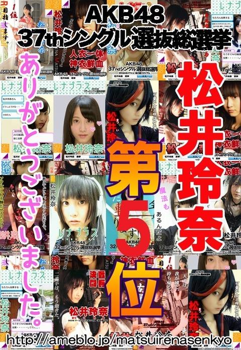 2014松井玲奈選挙5位