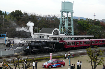 蒸気機関車煙・・・