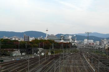 京都タワーが見える