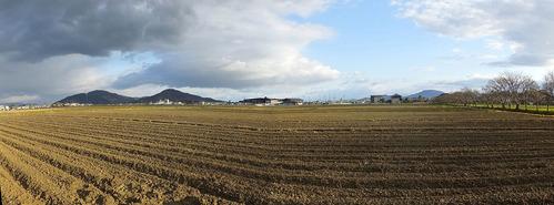 自宅前パノラマ田園風景