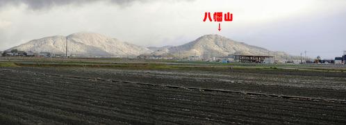初雪・・・田園風景
