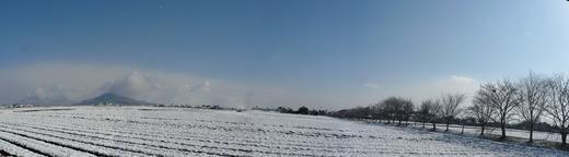 3月13日パノラマ雪景色