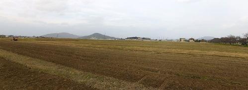 自宅前の田園風景