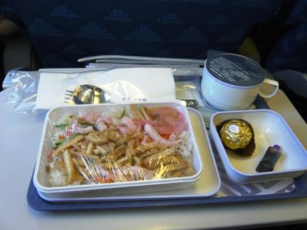 大韓航空の機内食(復路)1
